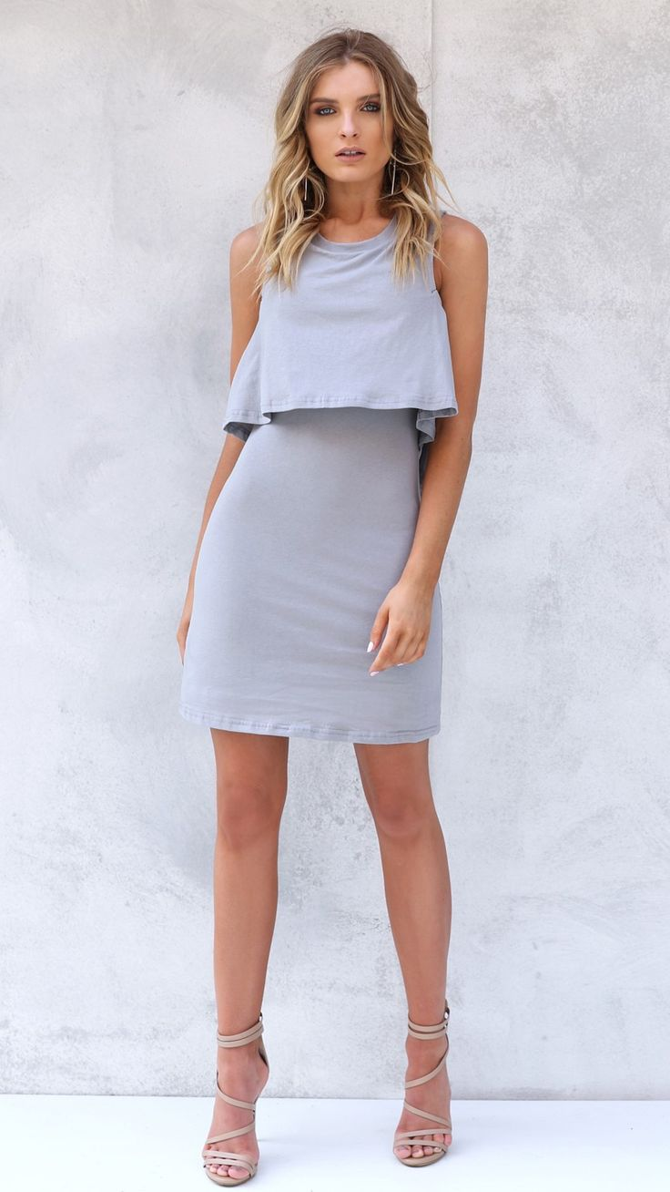 Madison Square - Dominique Dress | Grey