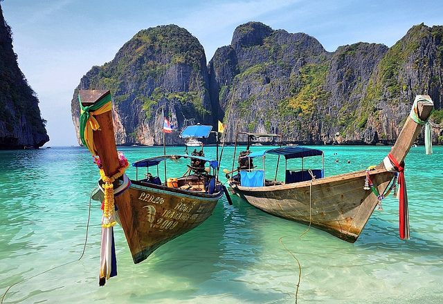 Maya Bay, Koh Phi Phi Leh, Thailand: Bucketlist, Buckets Lists, Thailand Koh Phi Phi, Favorite Places, Phi Leh, Maya Bays Thailand, Beautiful Thailand, Thailand Beaches, Maya Beaches Thailand