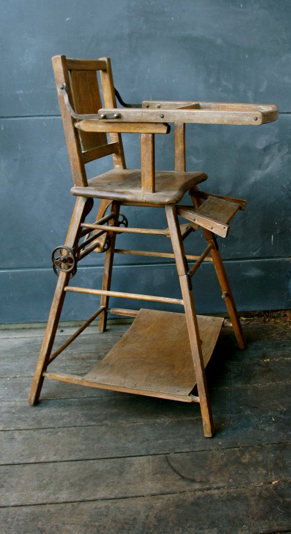 Etsy Com Listing 158937207 Antique Children High Chair