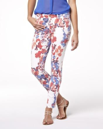 Summer 2013 Collection Clara ankle length denim in flower print