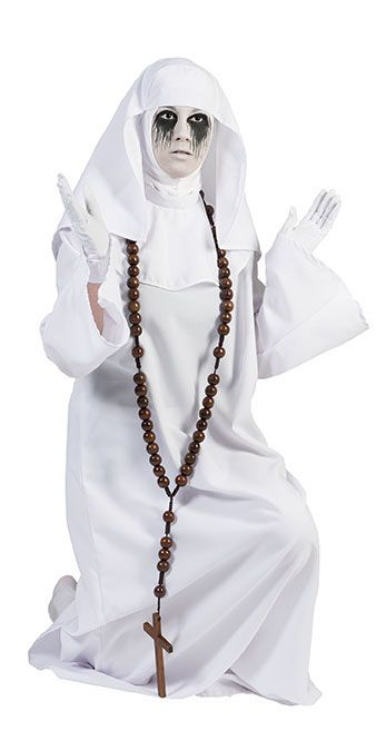 Extra lange Halskette mit Kreuz - Bußekette als Accessoire zu Mottos wie Kirche, Religion usw.