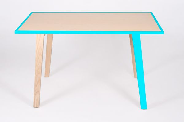 paint legs and edge of basic ikea tables for a great splash of color... store ideas