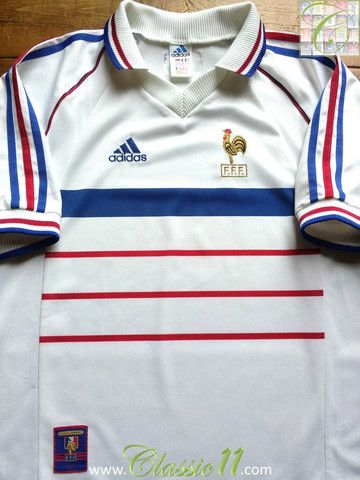 7685509ad Relive France s 1998 1999 international season with this vintage Adidas away  football shirt.