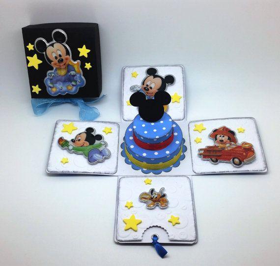 Baby Mickey inspiriert Kuchen Geburtstagskarte von LittleSofi