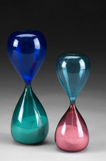 Paolo Venini for Venini Murano Italy   c. 1950 (Venini Hour Glass)