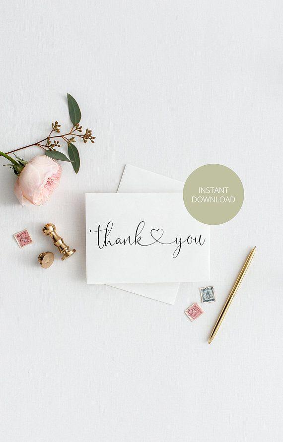 wedding thank you cards templates