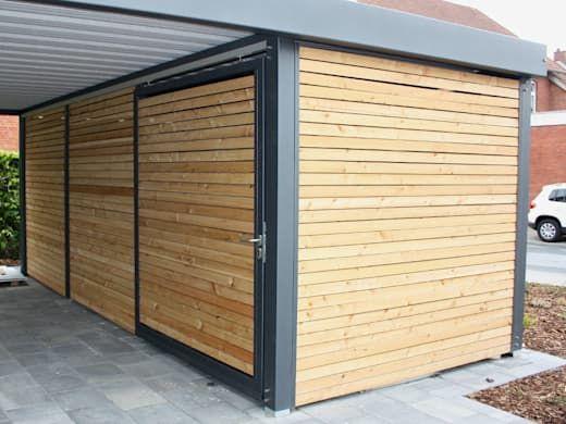 Wartungsarme Witterungsbestandige Carports Homify Homify Stahlcarport Carport Carport Terrasse