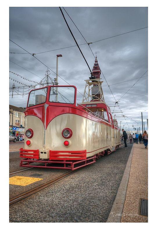 Open top Blackpool Tram