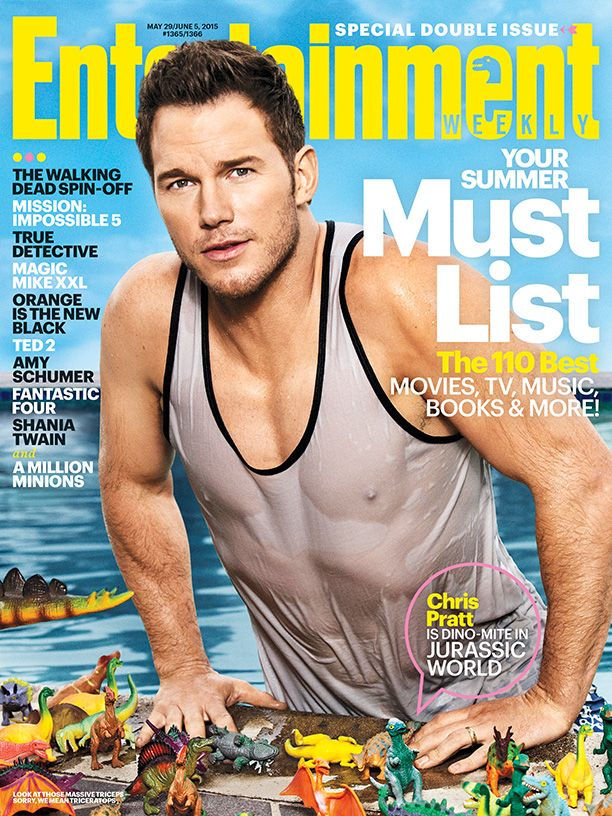 #JurassicWorld's Chris Pratt is the DINO-mite star of our Summer Must List! Photo credit: Ben Watts for EW.