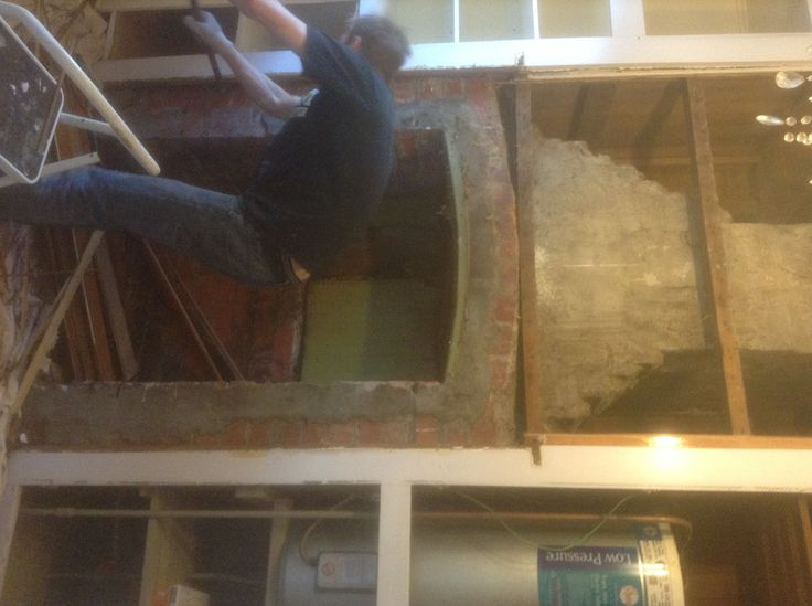 Almost ready to remove this beautiful fire place. Very farmhouse chic