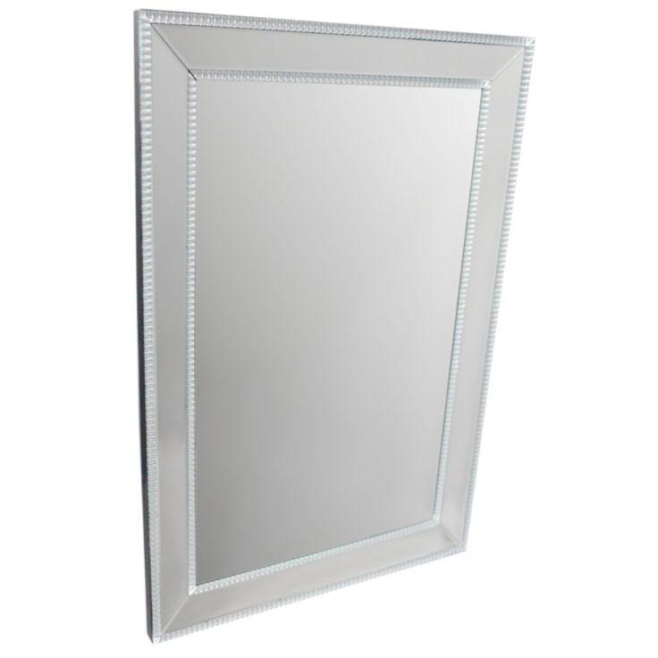 Appealing Grey Wall Mirror - Benzara