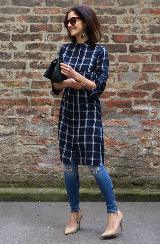 Como usar vestido camisa com calça