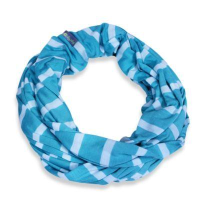 Itzy Ritzy® Nursing Happens™ Infinity Breastfeeding Scarf in Turquoise/White - buybuyBaby.com