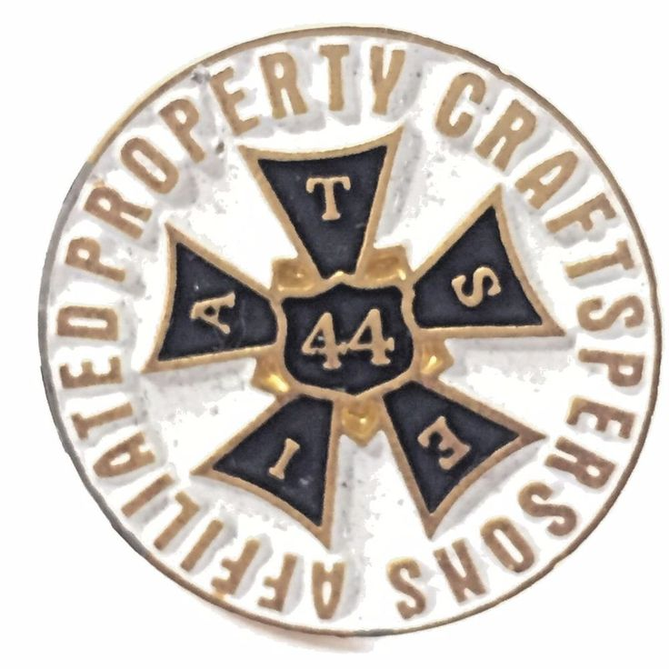 Affiliated Property Craftsperson Local 44 Pin Union Entertainment Industry IATSE #Unbranded