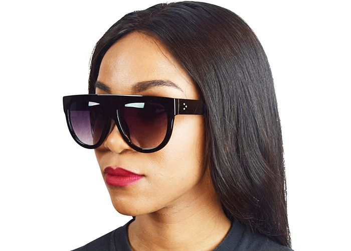 9851f58afed Kim Kardashian Flat Top Sunglasses from Instagram in Black ...