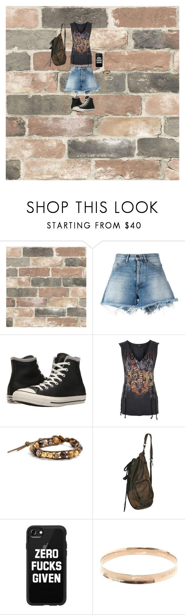 """""""Chill"""" by faithwhiskey on Polyvore featuring Wall Pops!, Off-White, Converse, Topshop, Chan Luu, Casetify and Tiffany & Co."""
