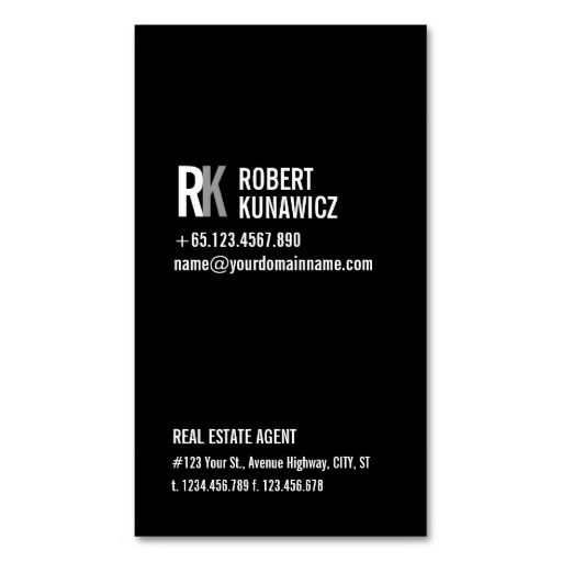 Best 100 business cards for small business images on pinterest modern simple black white card colourmoves