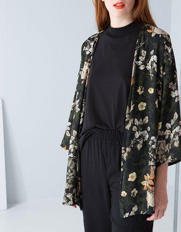 Khaki rules - #floral #kimono