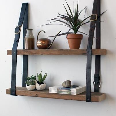 Belted shelves