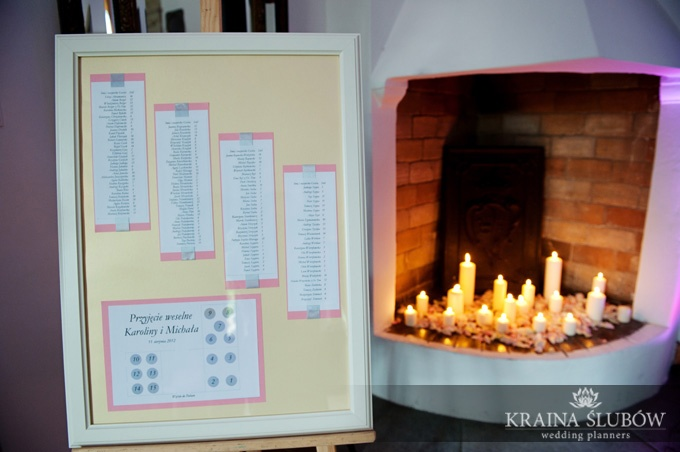 table plan and lot of candles!