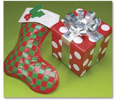 Duct Tape Stocking and Gift Tutorials