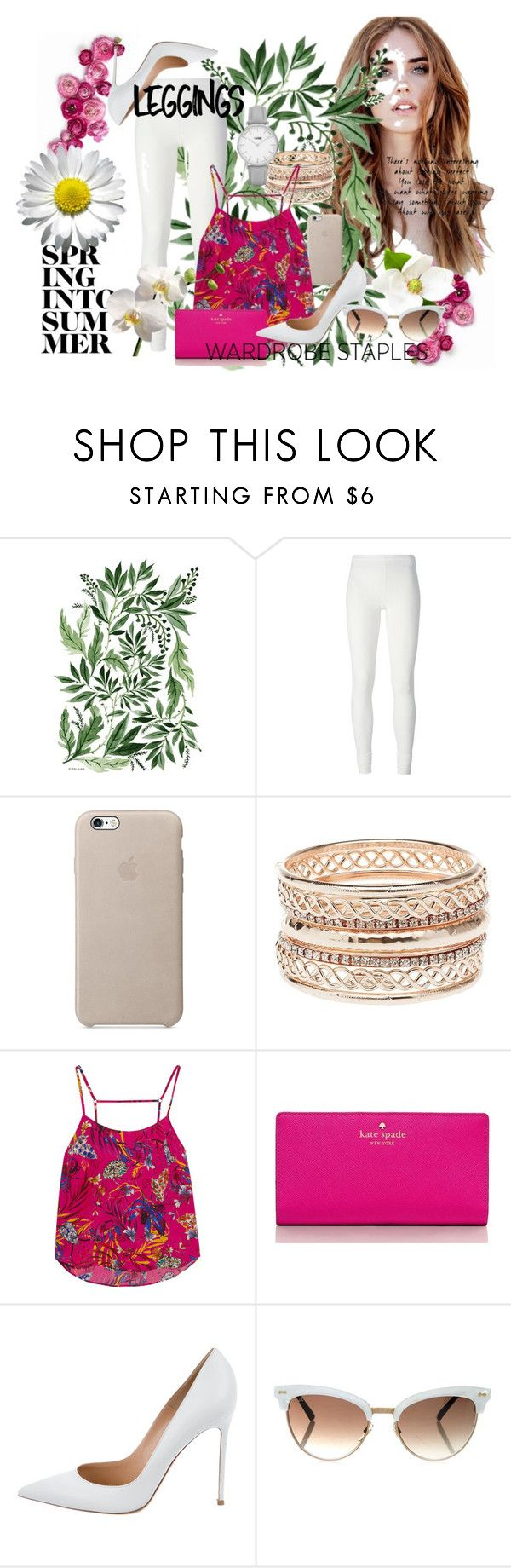 """Wardrobe Staples: Leggings Contest"" by mangofruit44 ❤ liked on Polyvore featuring Rick Owens Lilies, Charlotte Russe, Matthew Williamson, Kate Spade, Gianvito Rossi, Gucci, Topshop, Leggings and WardrobeStaples"