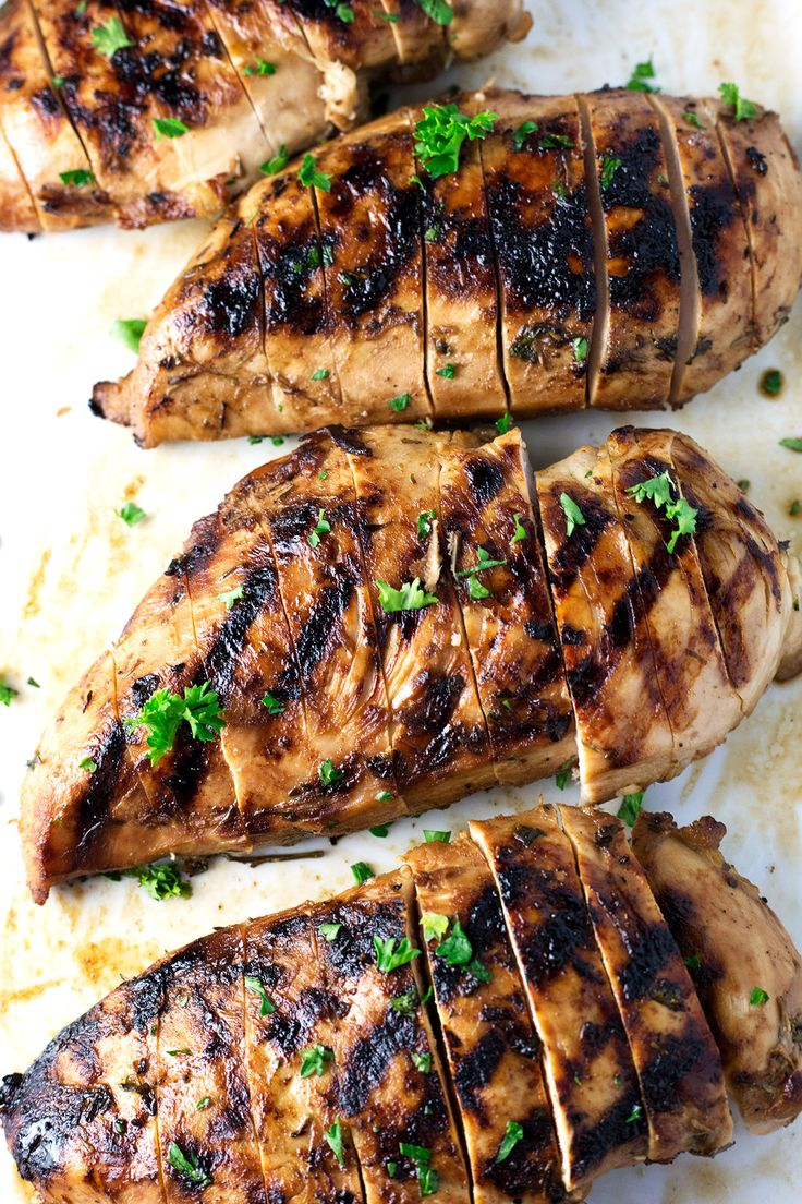 Best & Juiciest Grilled Chicken Breast   This is the best grilled chicken breast you will ever have in your life. The super easy marinade keeps the…