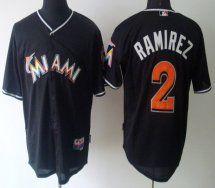mlb jerseys miami marlins 2 hanley ramirez black jerseys 83780b420