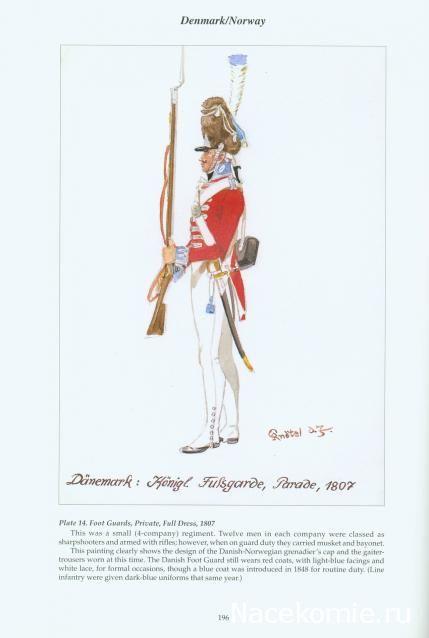 Danemark Foot guards full dress 1807