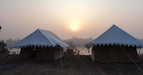 Camping Blue Bull, Orchha  Camp Blue Bull, an adventure camp in Orchha, Madhya Pradesh, is set up by the Betwa River. #MP_Travelogue #MP_travel