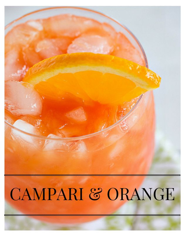 Campari & Orange - a simple blend of Campari liqueur and orange juice! | The Drink Kings |
