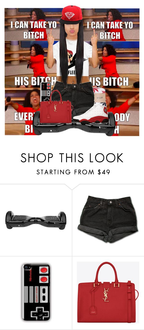 """""""@wilnayia09 I'm still waiting (hush mode)"""" by ladiijae ❤ liked on Polyvore featuring Levi's, HUF, Nintendo, Yves Saint Laurent, Diamond Supply Co., women's clothing, women, female, woman and misses"""