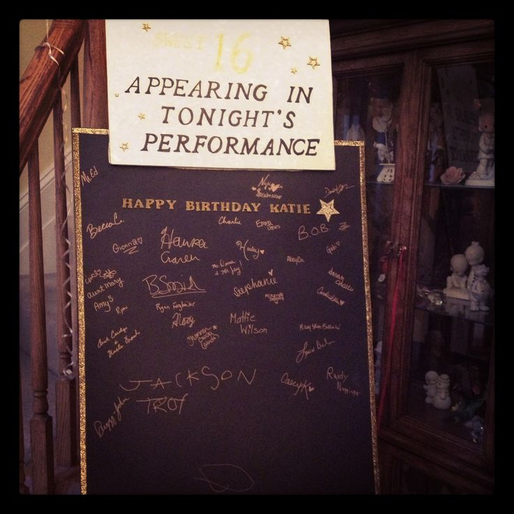 Broadway party guest book alternative: Appearing in tonight's performance