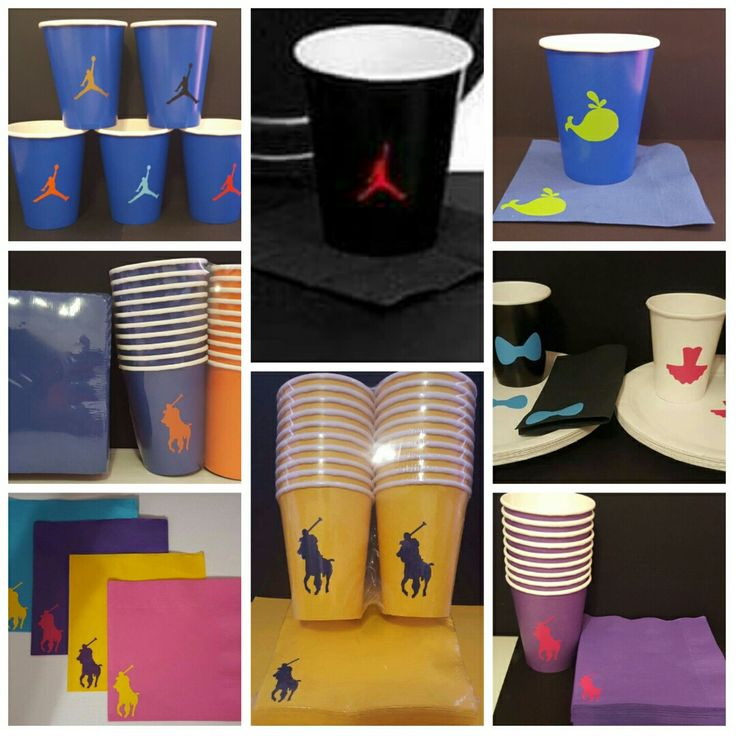 Polo or Jumpman Cups and Napkins