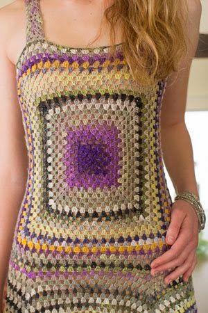 Vestido de Crochet Colorido