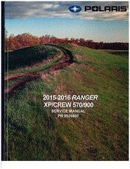 This is a DIGITAL download of the 2016 Polaris Ranger XP/Crew 570/900 Service Manual in PDF format.You will need Adobe Reader to view.All pages are printable.You can also transfer this file to a DVD if you would like to have a back up.