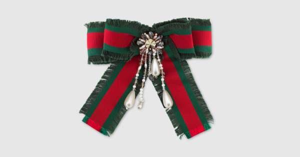 33d40c886ae Gucci Web bow brooch. Gucci Web bow brooch Gucci Fashion