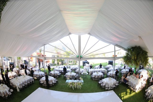 White wedding - romantic look http://www.creativetent.us/markets-served/large-events.html