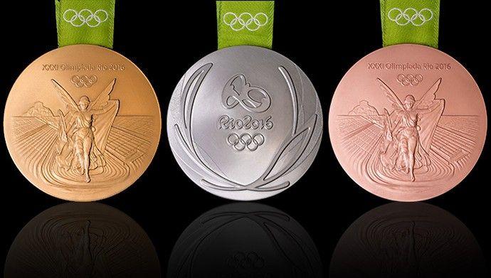 Montagem medalhas olimpicas (Foto: Reprodução )
