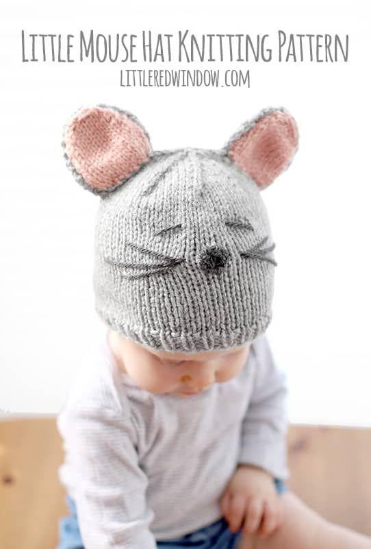 Little Mouse Hat Knitting Pattern | knit, crochet, yarn, fiber ...
