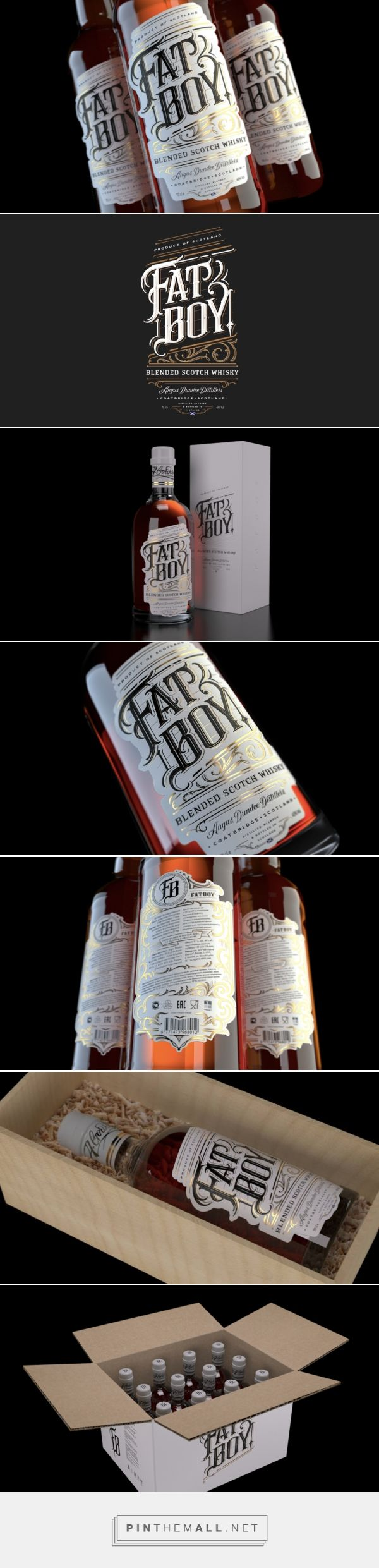 Fat Boy #Whiskey #label designed by Deluxe Interactive Moscow (#Russia) - http://www.packagingoftheworld.com/2016/03/fat-boy-whiskey.html