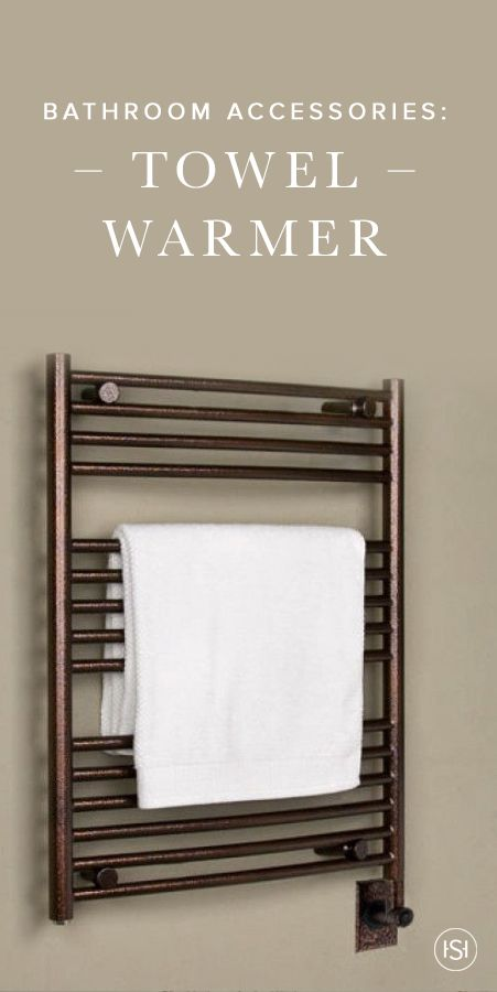 Bring a whole new level of comfort to your bathroom with a sophisticated towel warmer from Signature Hardware. It will keep your bath linens dry and lavishly warm.