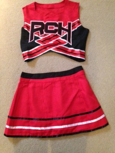 Womens-ladies-cheerleader-costume-outfit-Bring-it-on-style-Full-Costume-size-S