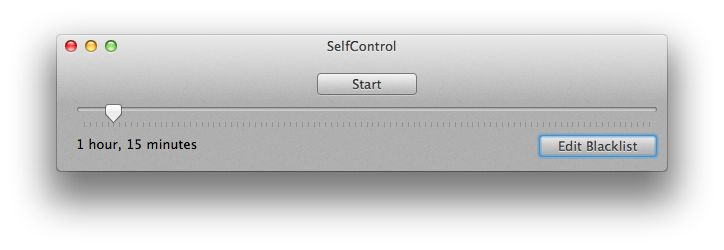 SelfControl app blocks websites for the amount of time you choose to help you stay focused