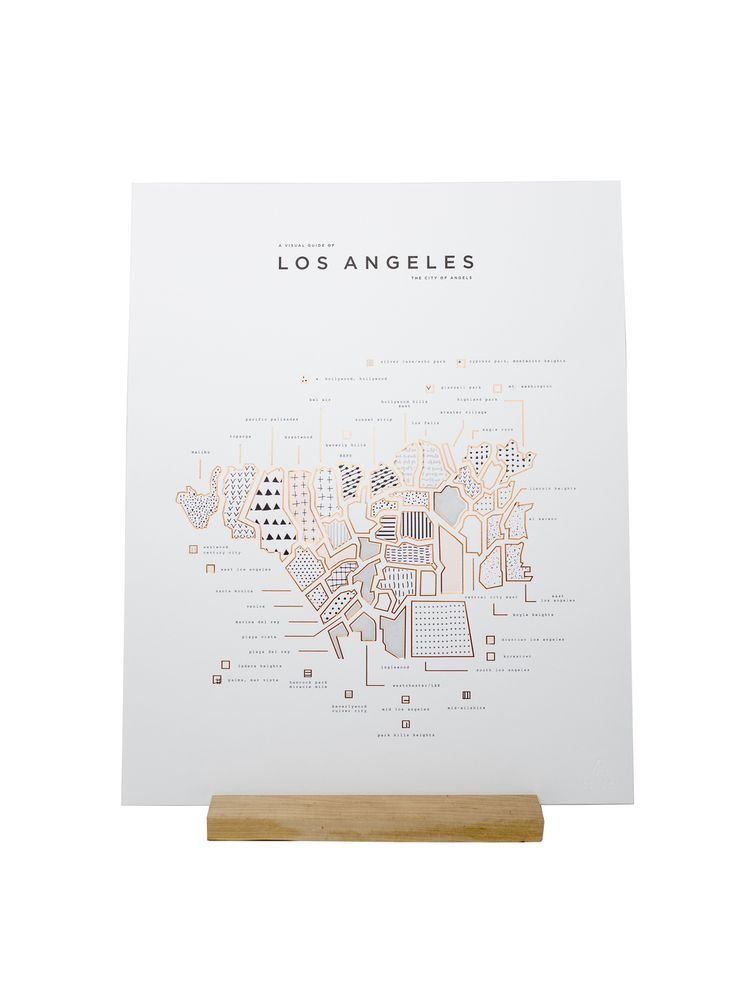 Los Angeles map by 42 Pressed 66