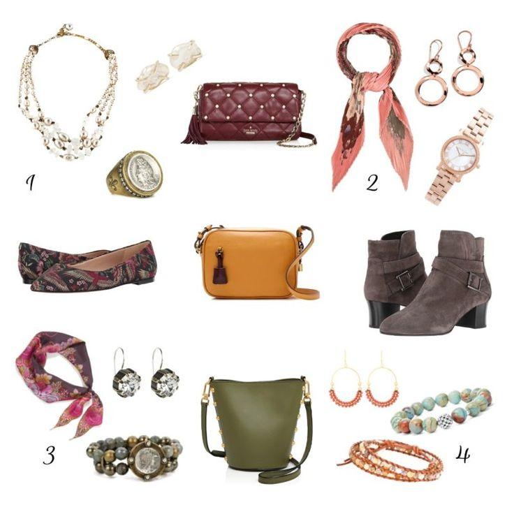 How to create fall accessory bundles. Details at une femme d'un certain age.