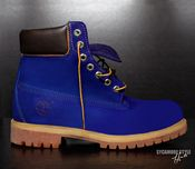 "Image of ""Blueberry"" Sycamore Style Custom Dyed Timberland Boot"