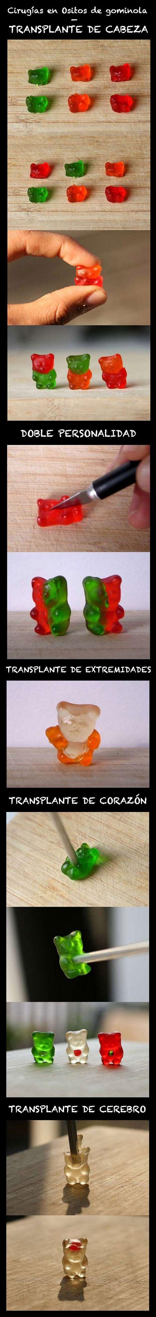 Cirugías en Ositos de gominola.