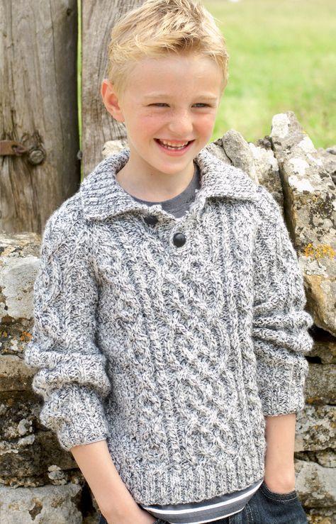 Free Knitting Pattern for Raglan Aran Pullover   Kids ...