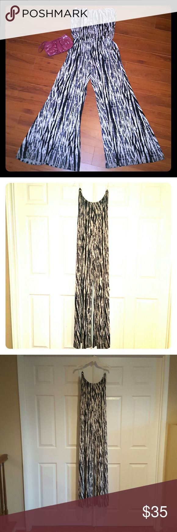 Black and white jumper!!! Offers accepted! Cute black and white tube top jumper! Pants Jumpsuits & Rompers